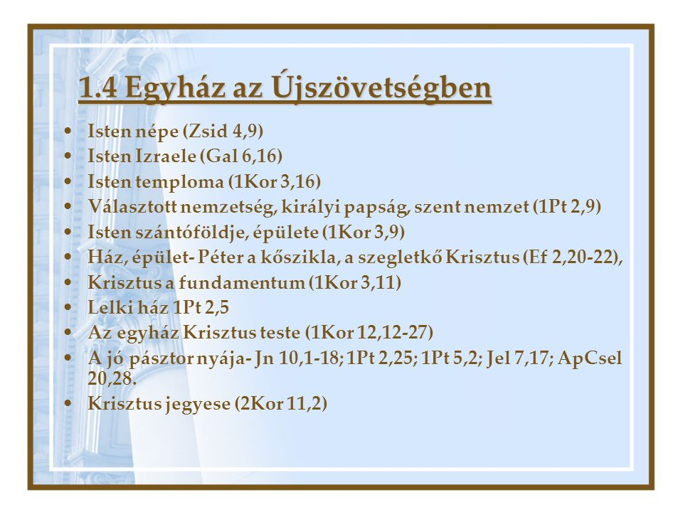 1.4 Egyház az Újszövetségben