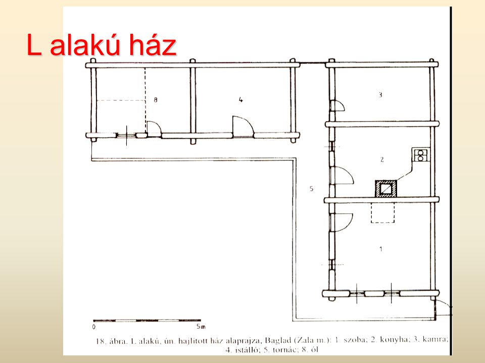 L alakú ház