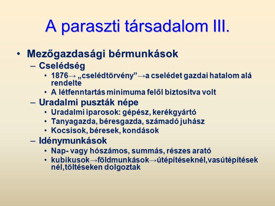A paraszti társadalom III.