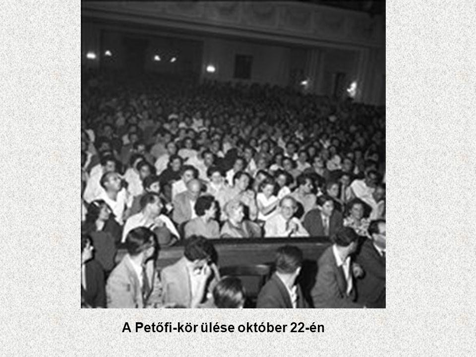 A Petőfi-kör ülése október 22-én