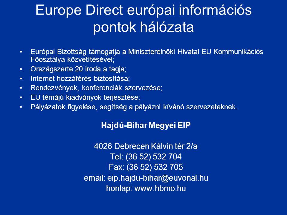 Europe Direct európai információs pontok hálózata