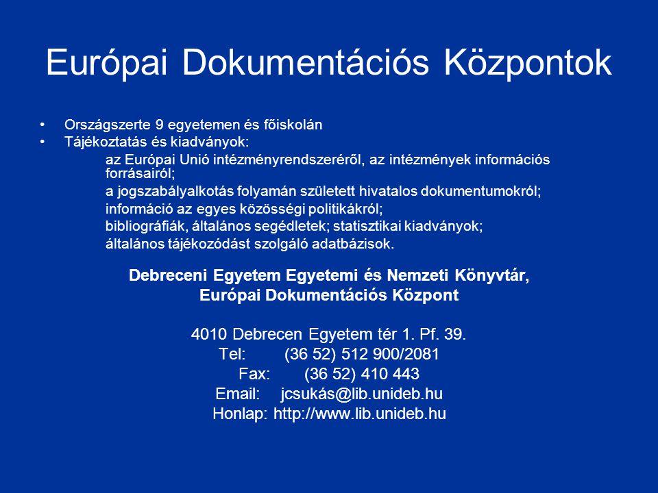 Európai Dokumentációs Központok