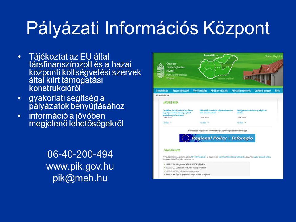 Pályázati Információs Központ