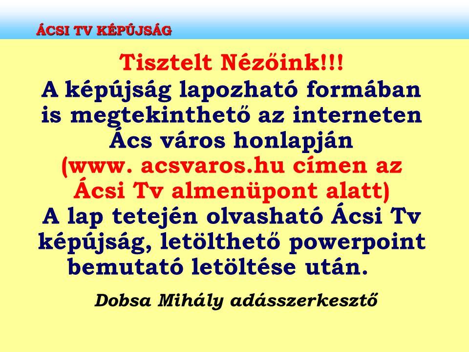 Dobsa Mihály adásszerkesztő