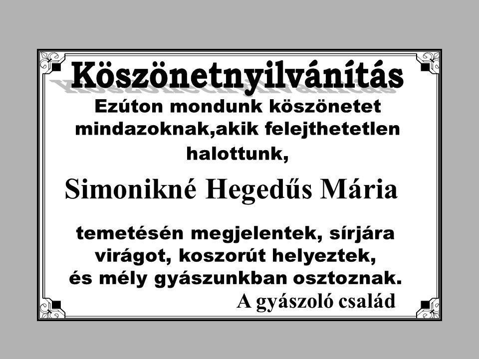 Simonikné Hegedűs Mária