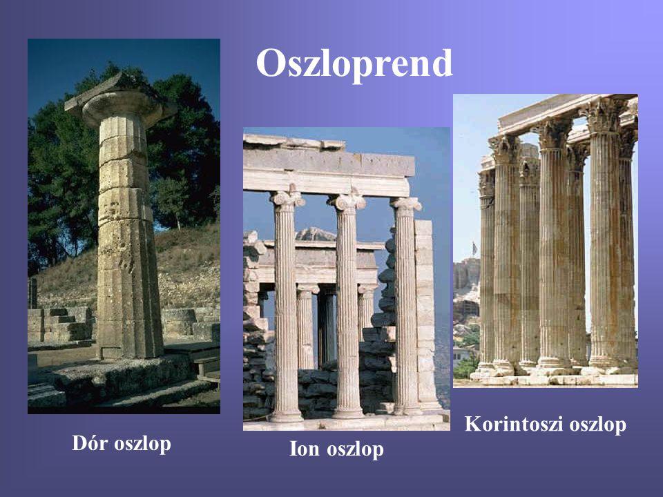 Oszloprend Korintoszi oszlop Dór oszlop Ion oszlop