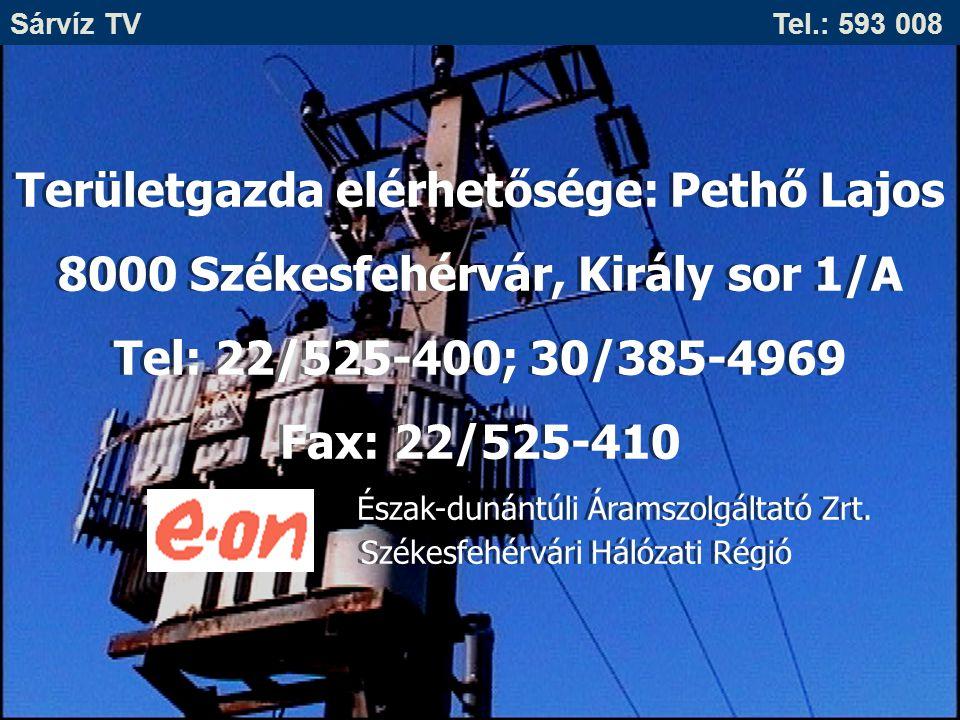 Területgazda elérhetősége: Pethő Lajos