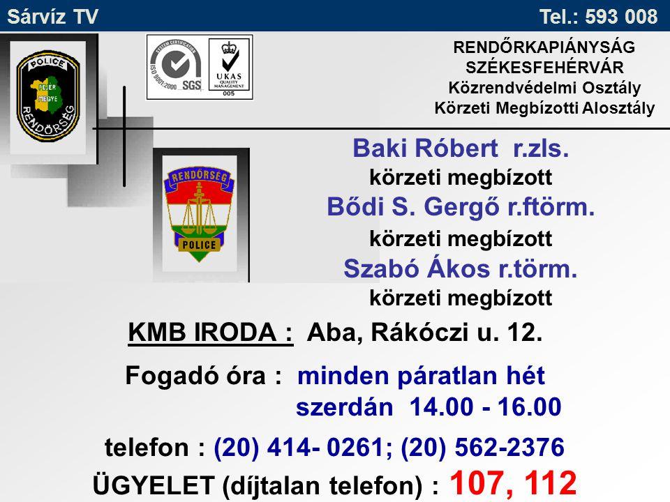 KMB IRODA : Aba, Rákóczi u. 12.