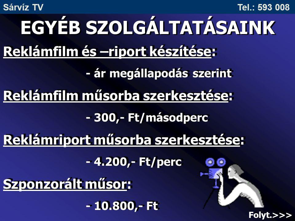 EGYÉB SZOLGÁLTATÁSAINK