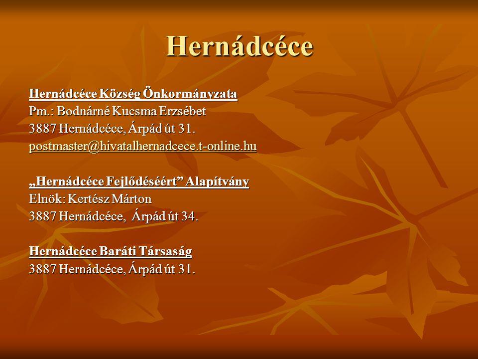 Hernádcéce Hernádcéce Község Önkormányzata