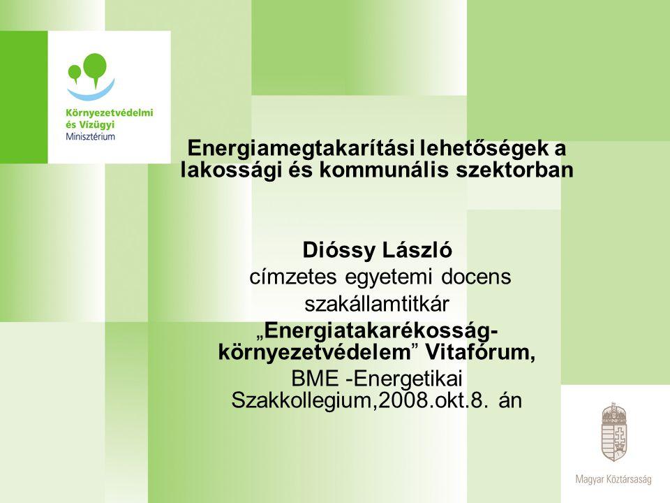 Energiamegtakarítási lehetőségek a lakossági és kommunális szektorban