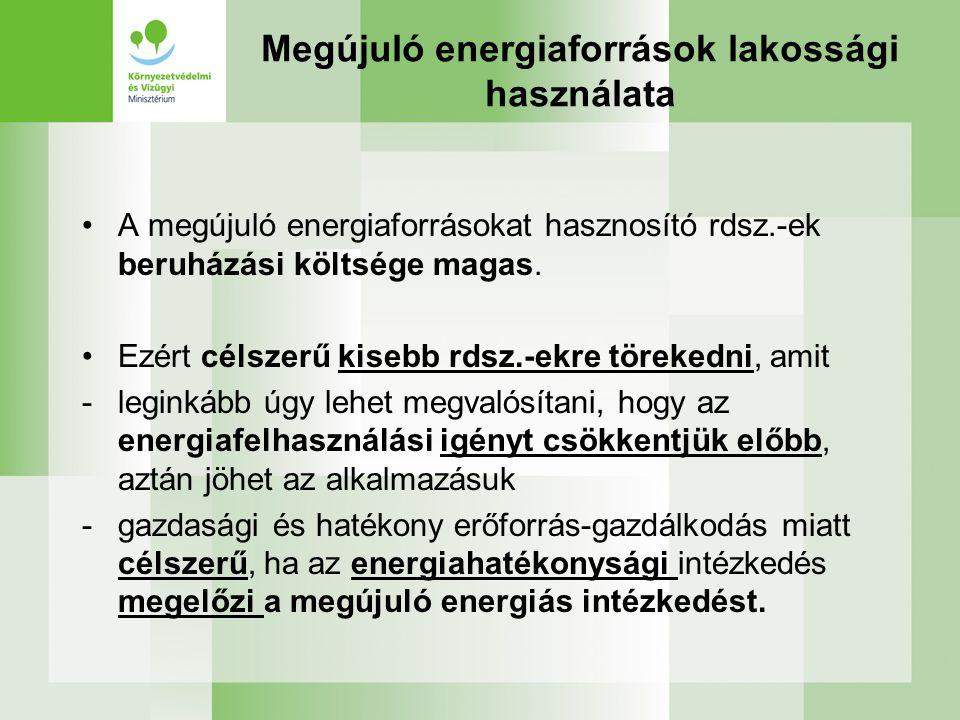 Megújuló energiaforrások lakossági használata