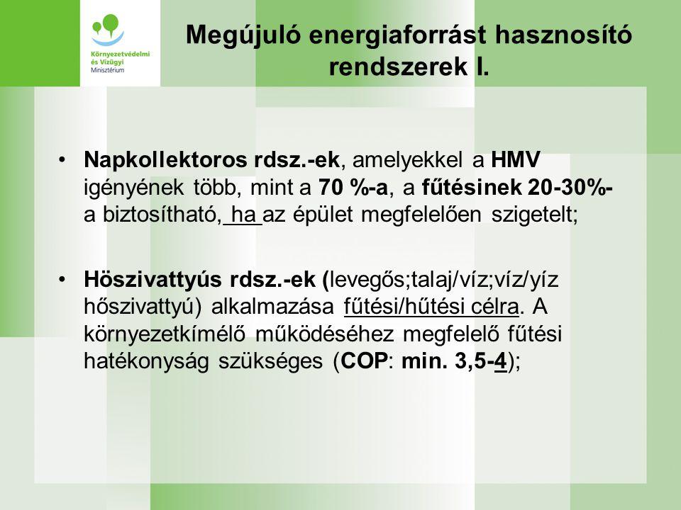 Megújuló energiaforrást hasznosító rendszerek I.