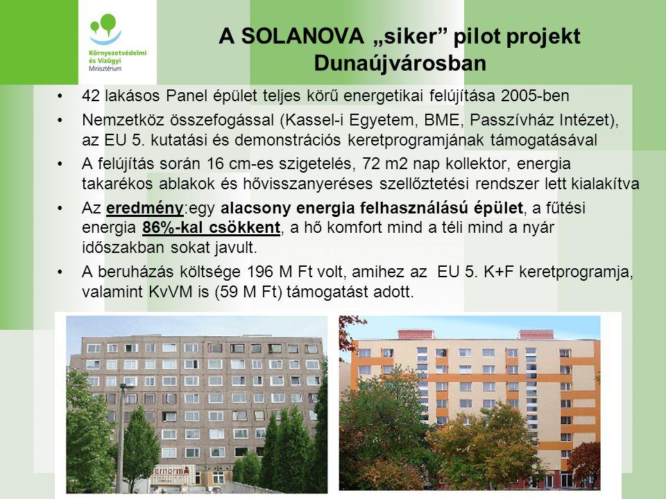 """A SOLANOVA """"siker pilot projekt Dunaújvárosban"""
