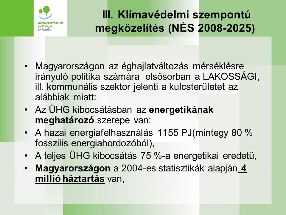 III. Klímavédelmi szempontú megközelítés (NÉS 2008-2025)