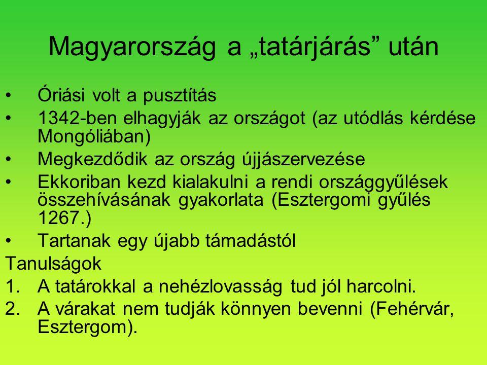 """Magyarország a """"tatárjárás után"""