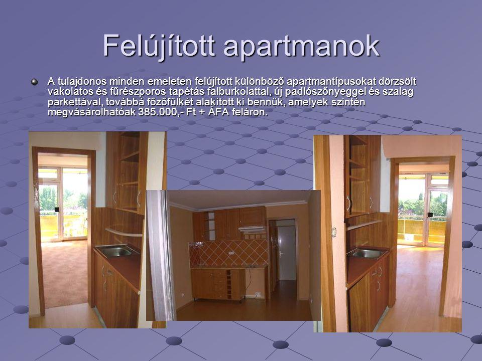 Felújított apartmanok