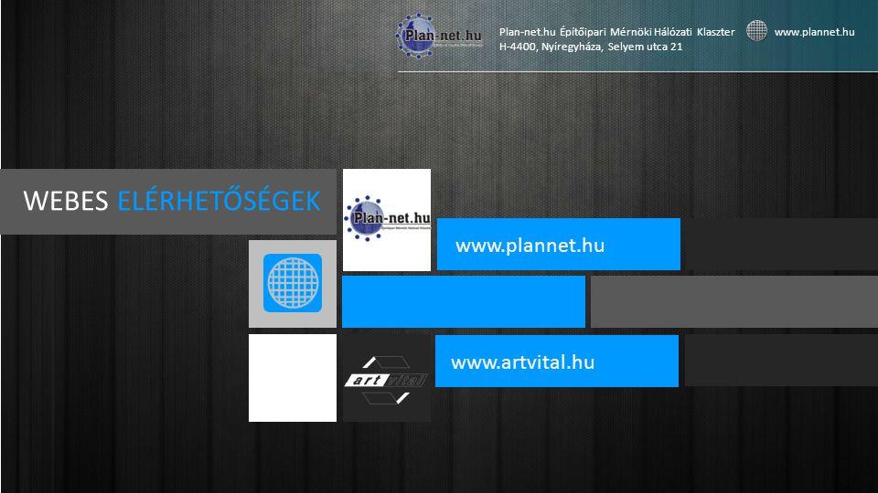 WEBES ELÉRHETŐSÉGEK www.plannet.hu www.artvital.hu