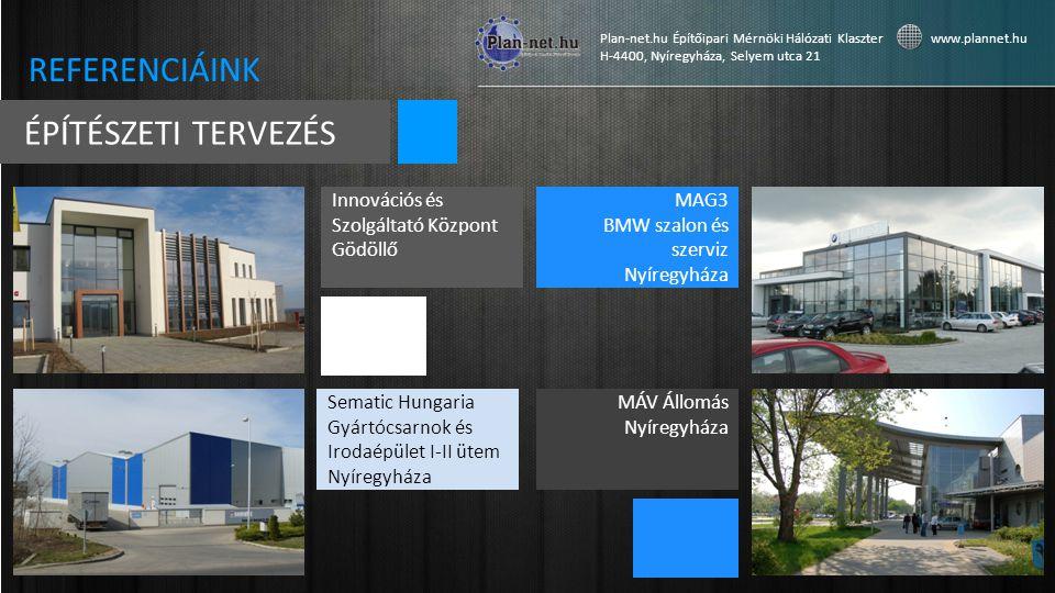 REFERENCIÁINK ÉPÍTÉSZETI TERVEZÉS Innovációs és Szolgáltató Központ