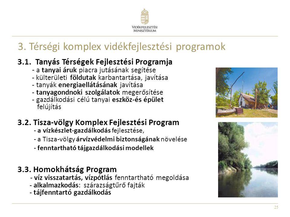 3. Térségi komplex vidékfejlesztési programok