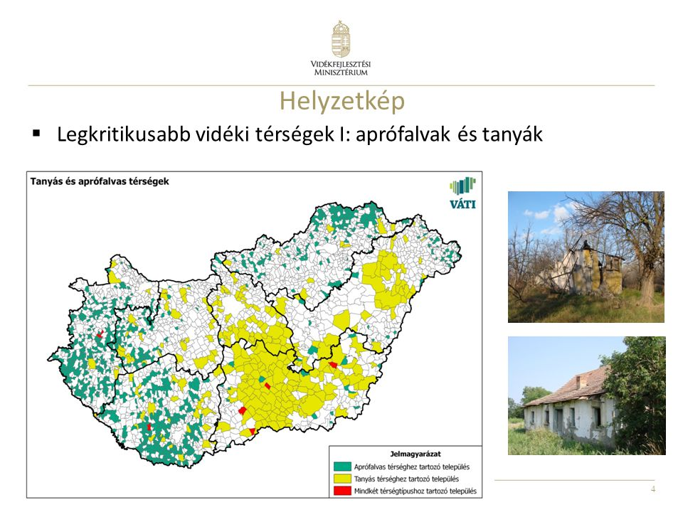 Helyzetkép Legkritikusabb vidéki térségek I: aprófalvak és tanyák