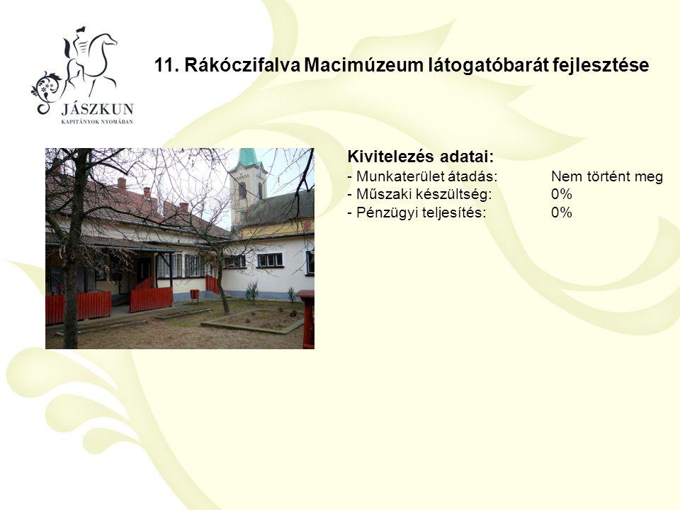 11. Rákóczifalva Macimúzeum látogatóbarát fejlesztése