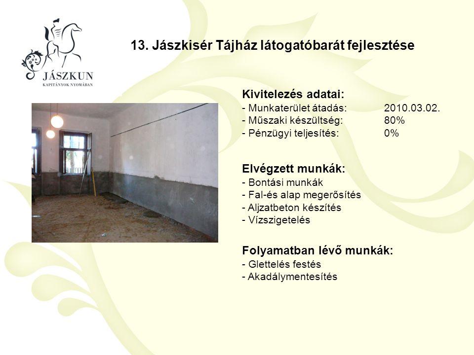 13. Jászkisér Tájház látogatóbarát fejlesztése