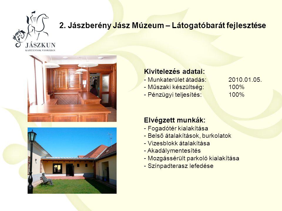 2. Jászberény Jász Múzeum – Látogatóbarát fejlesztése