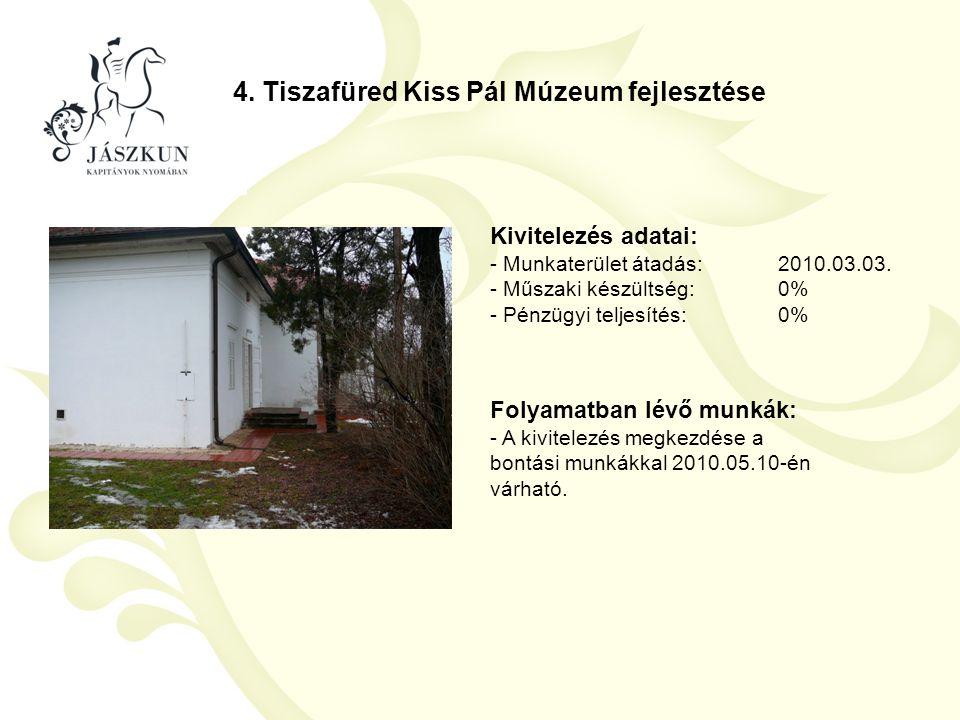 4. Tiszafüred Kiss Pál Múzeum fejlesztése