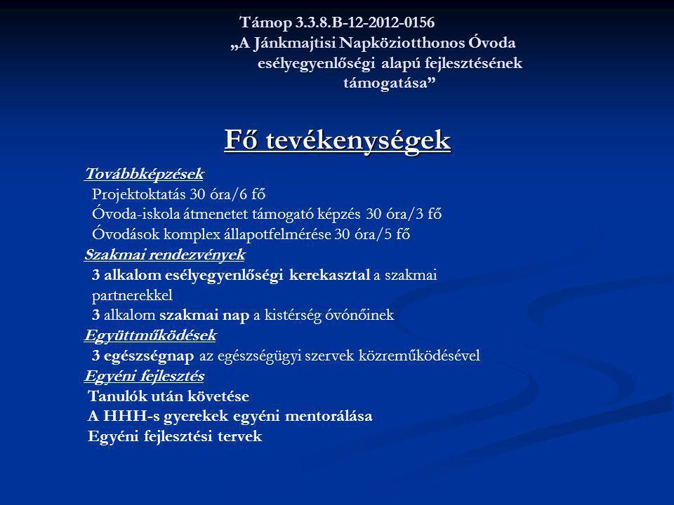 """Támop 3.3.8.B-12-2012-0156 """"A Jánkmajtisi Napköziotthonos Óvoda esélyegyenlőségi alapú fejlesztésének támogatása"""