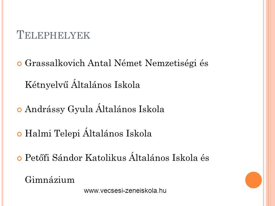 Telephelyek Grassalkovich Antal Német Nemzetiségi és Kétnyelvű Általános Iskola. Andrássy Gyula Általános Iskola.