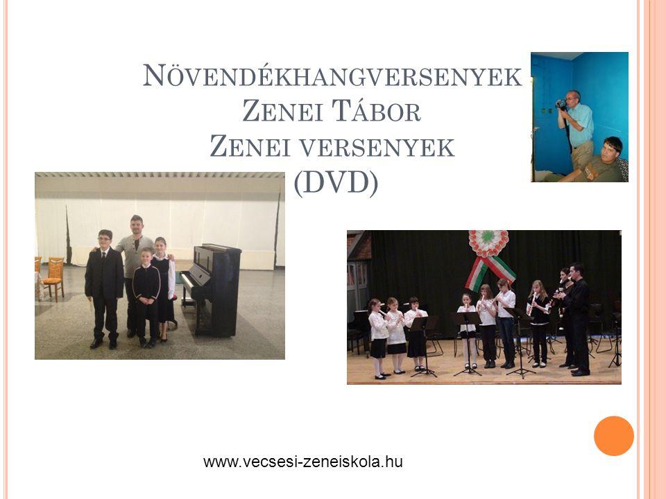 Növendékhangversenyek Zenei Tábor Zenei versenyek (DVD)