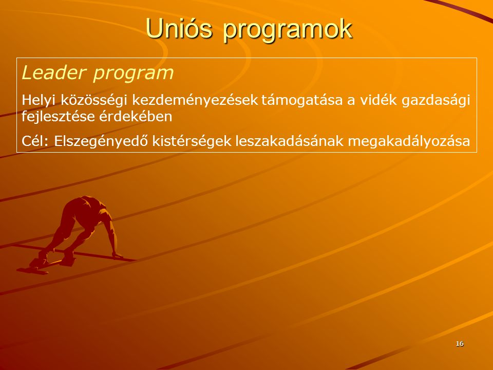 Uniós programok Leader program