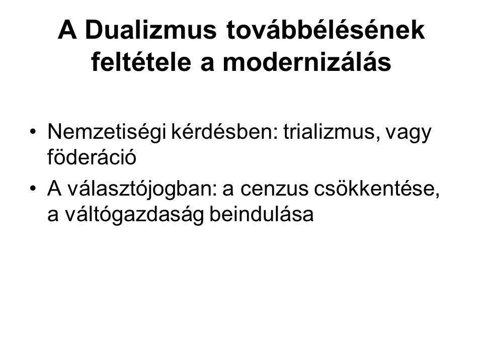 A Dualizmus továbbélésének feltétele a modernizálás