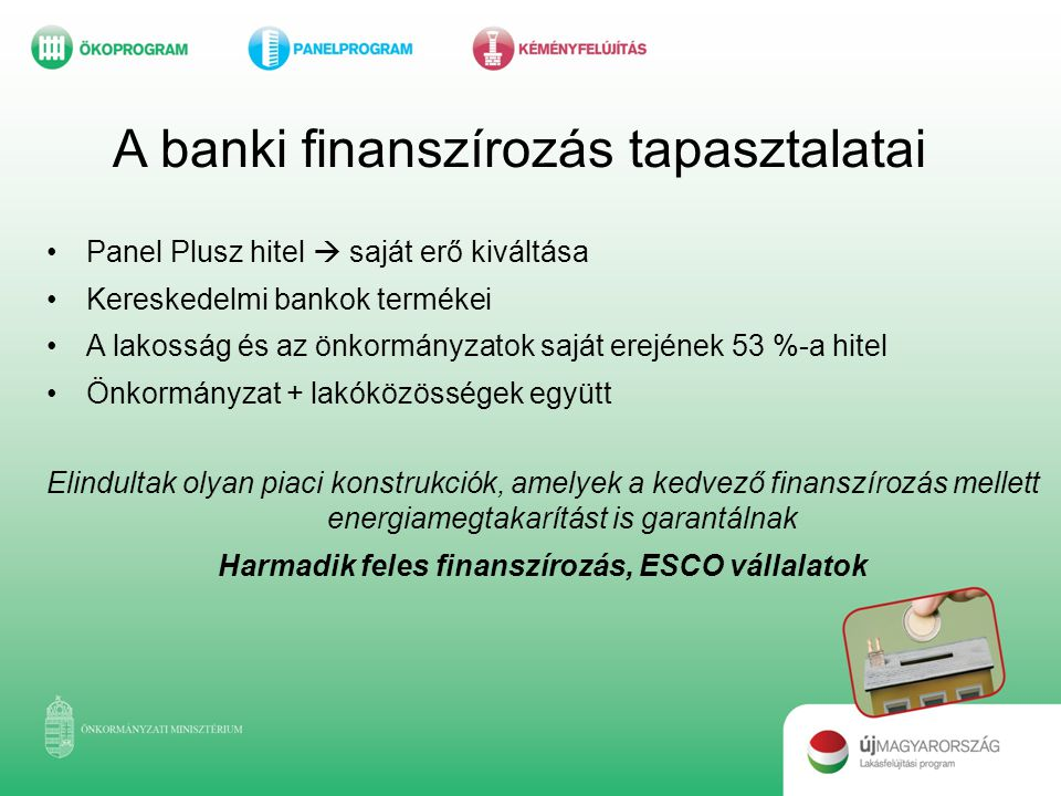 Harmadik feles finanszírozás, ESCO vállalatok