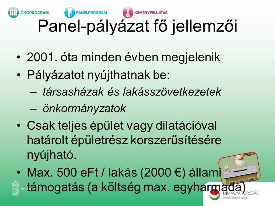 Panel-pályázat fő jellemzői