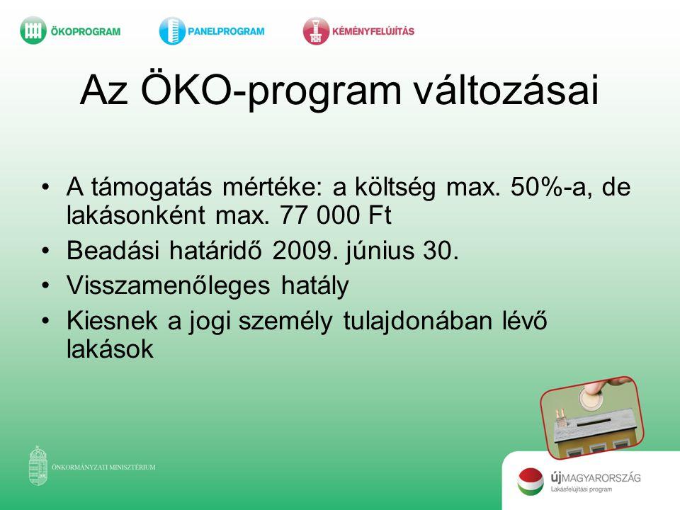Az ÖKO-program változásai