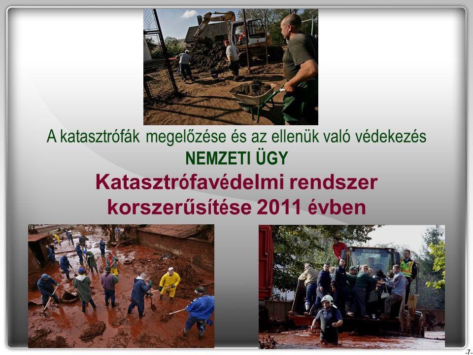 Katasztrófavédelmi rendszer korszerűsítése 2011 évben