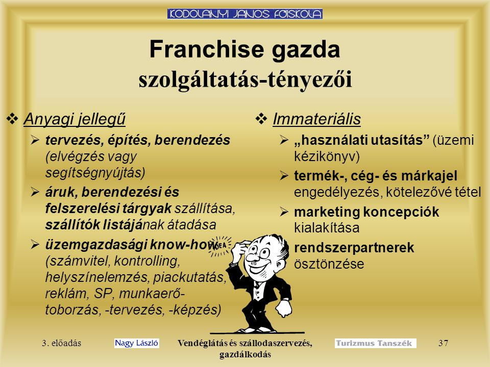 Franchise gazda szolgáltatás-tényezői