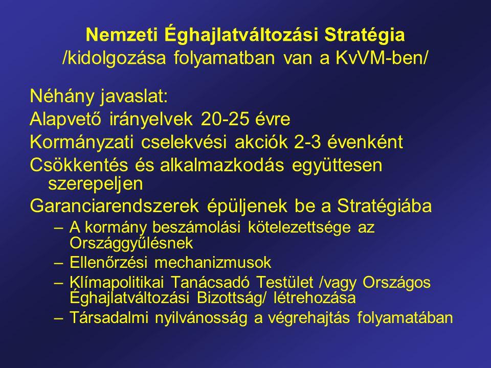 Alapvető irányelvek 20-25 évre