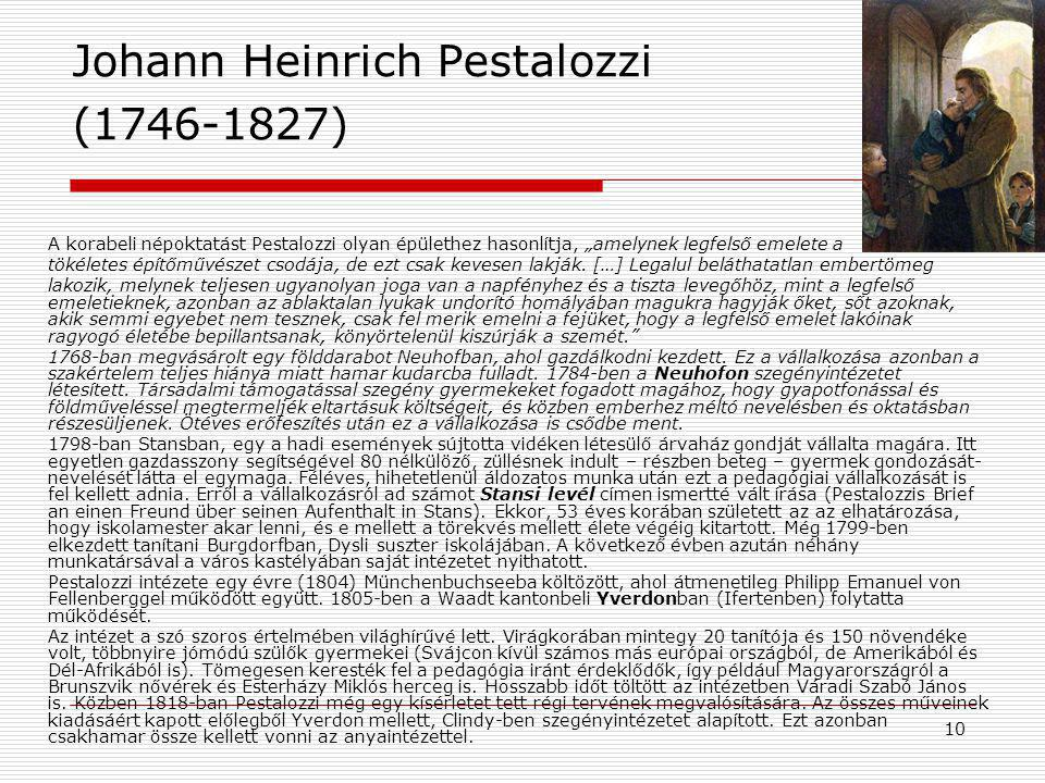 Johann Heinrich Pestalozzi (1746-1827)