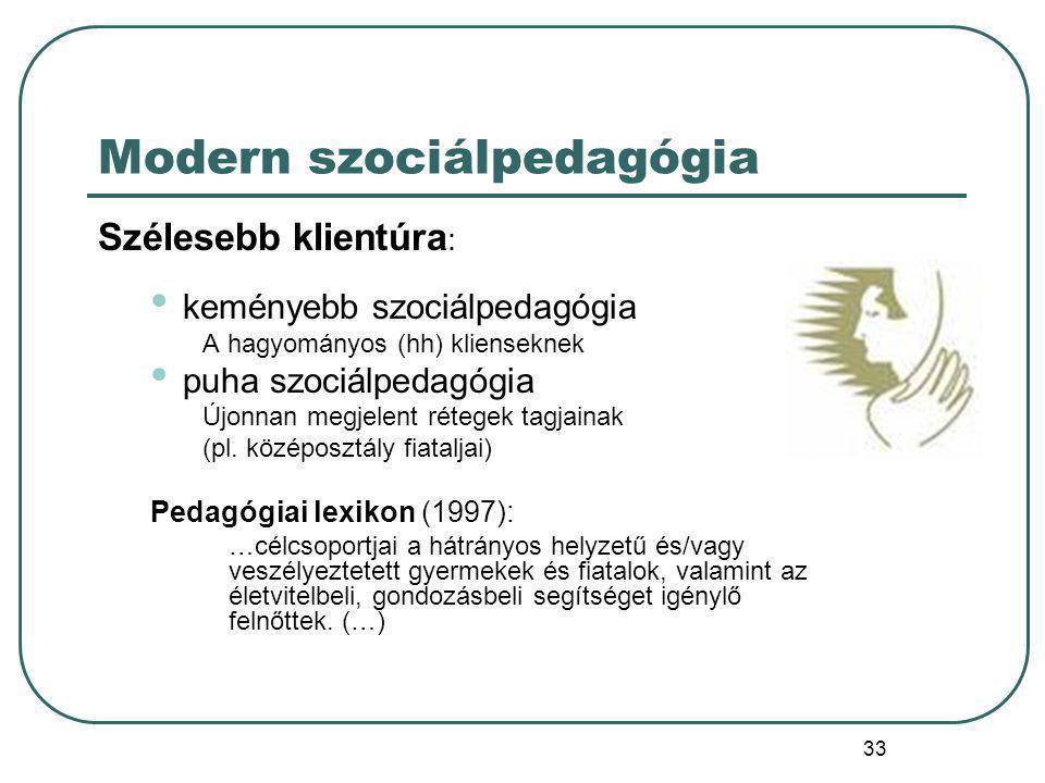 Modern szociálpedagógia
