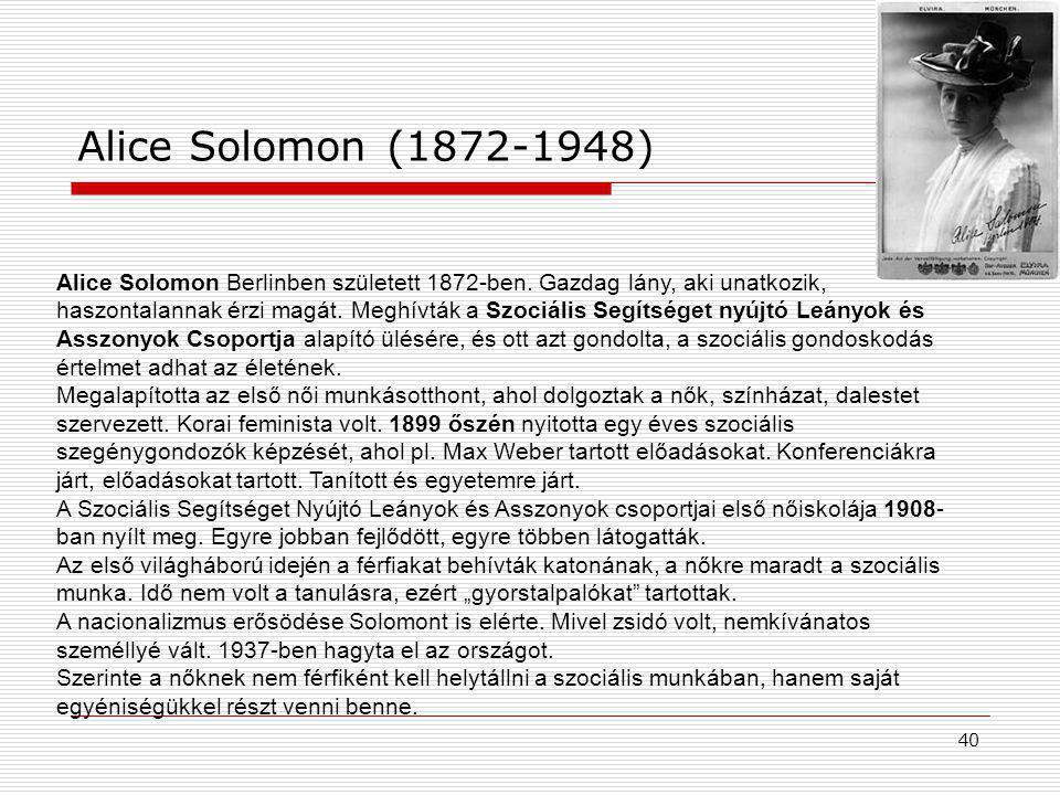 Alice Solomon (1872-1948)