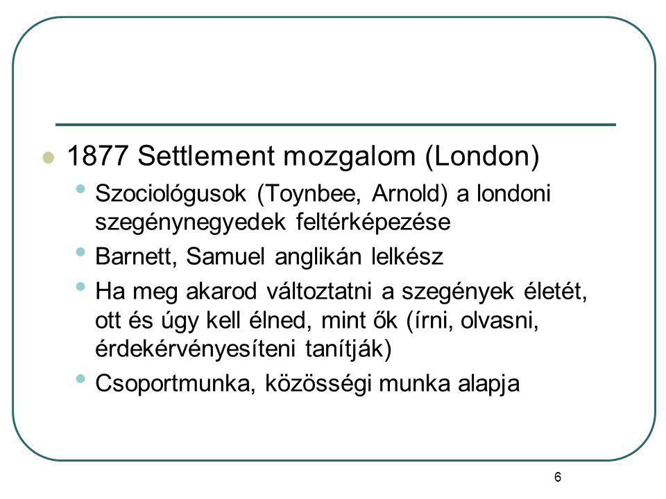 1877 Settlement mozgalom (London)