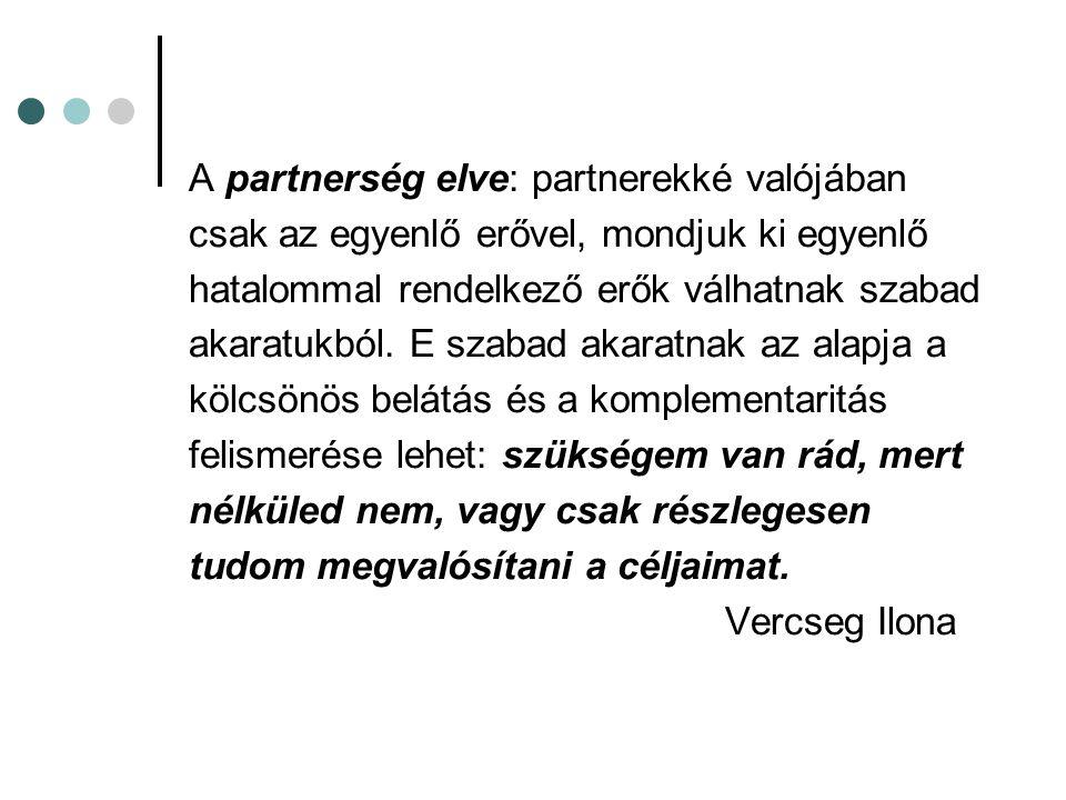 A partnerség elve: partnerekké valójában