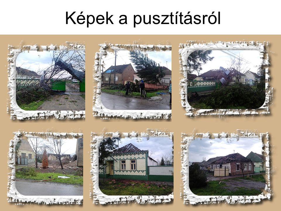 Képek a pusztításról