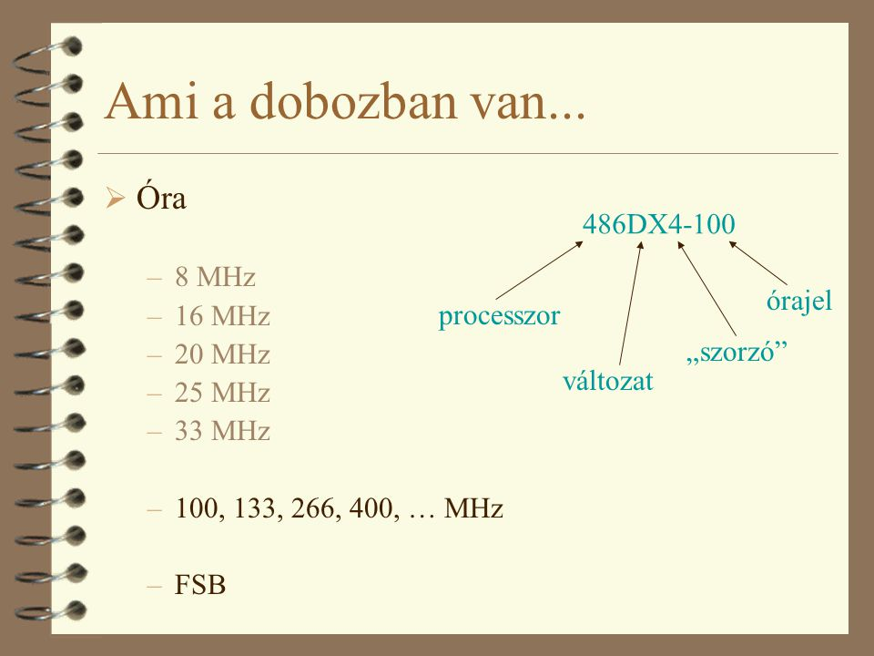 Ami a dobozban van... Óra 8 MHz 16 MHz 20 MHz 25 MHz 33 MHz