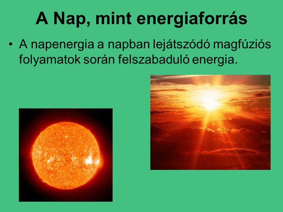 A Nap, mint energiaforrás