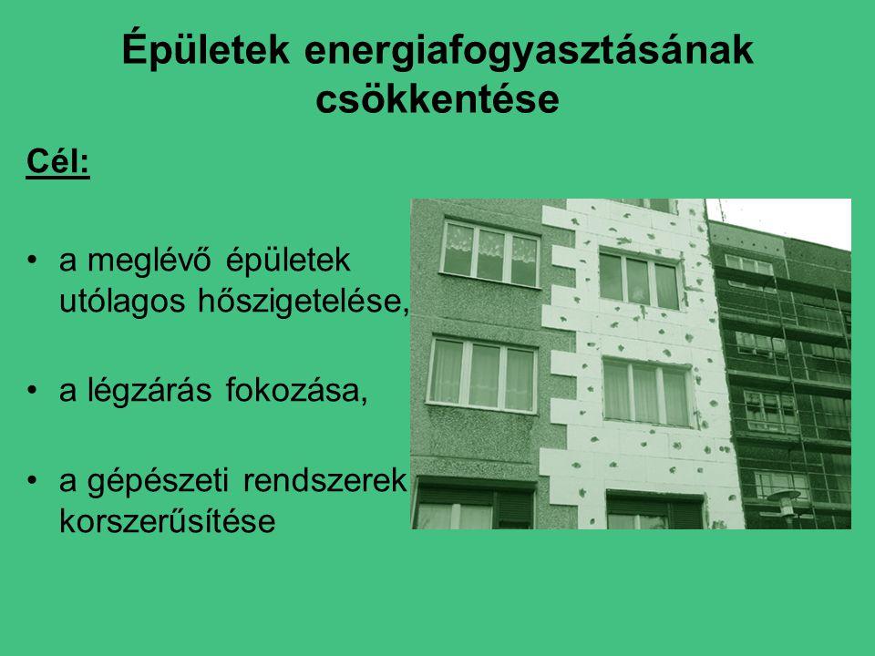 Épületek energiafogyasztásának csökkentése