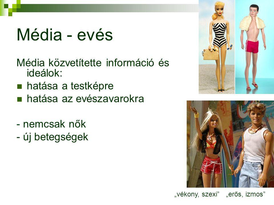 Média - evés Média közvetítette információ és ideálok: